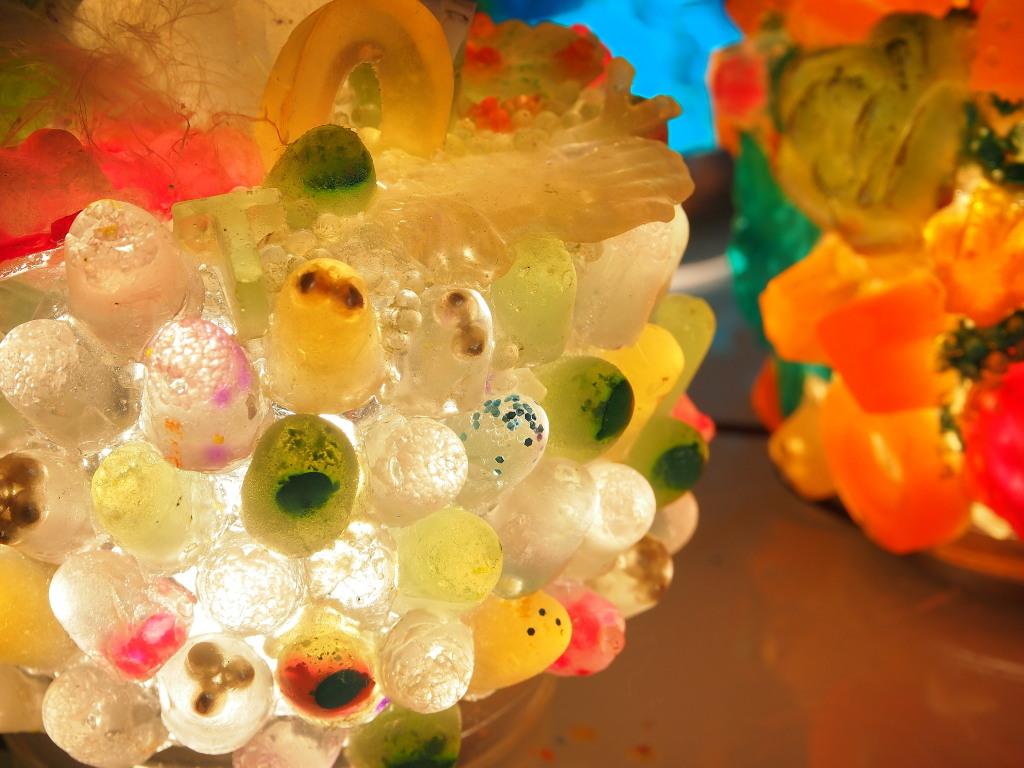 Detail of soap lamp for Globular Cluster series